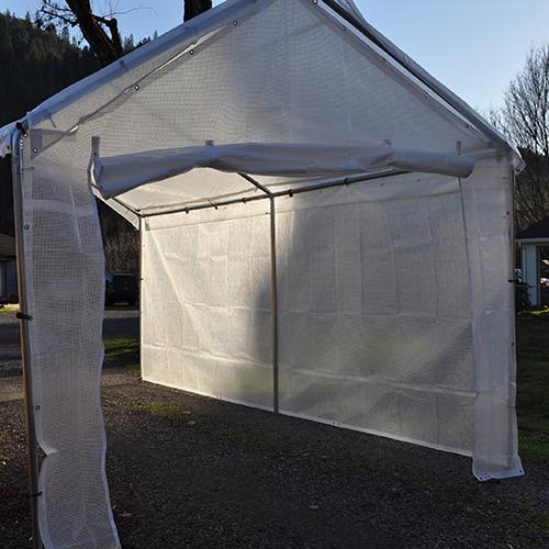 14 Foot Wide Replacement Greenhouse Zipper Door Panel Clear Costless Tarps