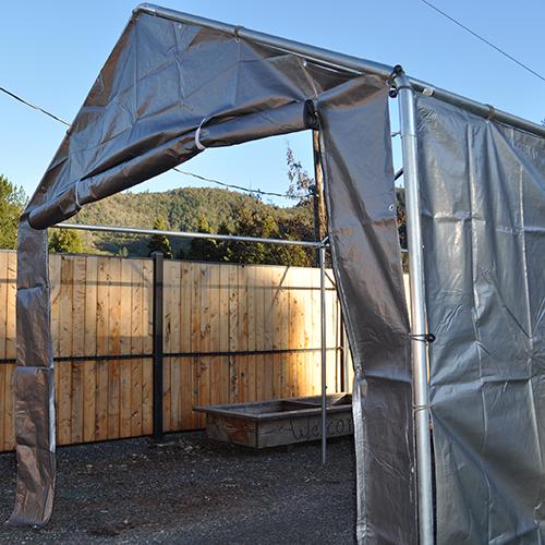 10 ... & 10 Foot Wide - Replacement Carport Zipper Door Panel - Silver ...