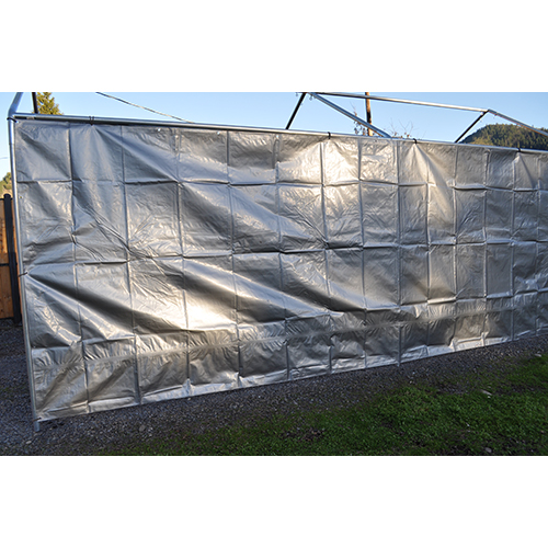 Replacement Tarp For Carport : Foot wide replacement carport side panel silver