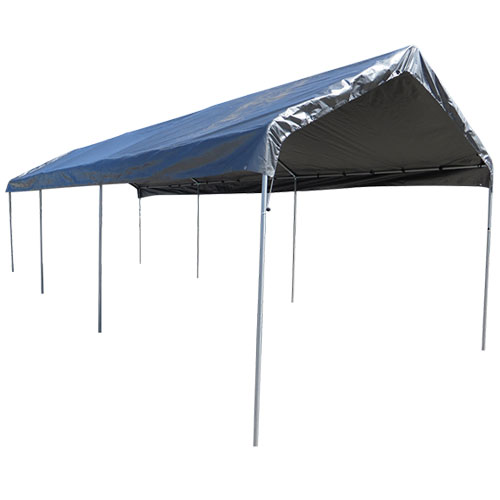 18x20 Replacement Carport Top - Silver - Costless Tarps
