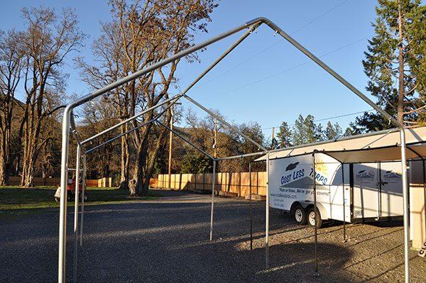 10x20 Galvanized Steel Carport Frames Costless Tarps