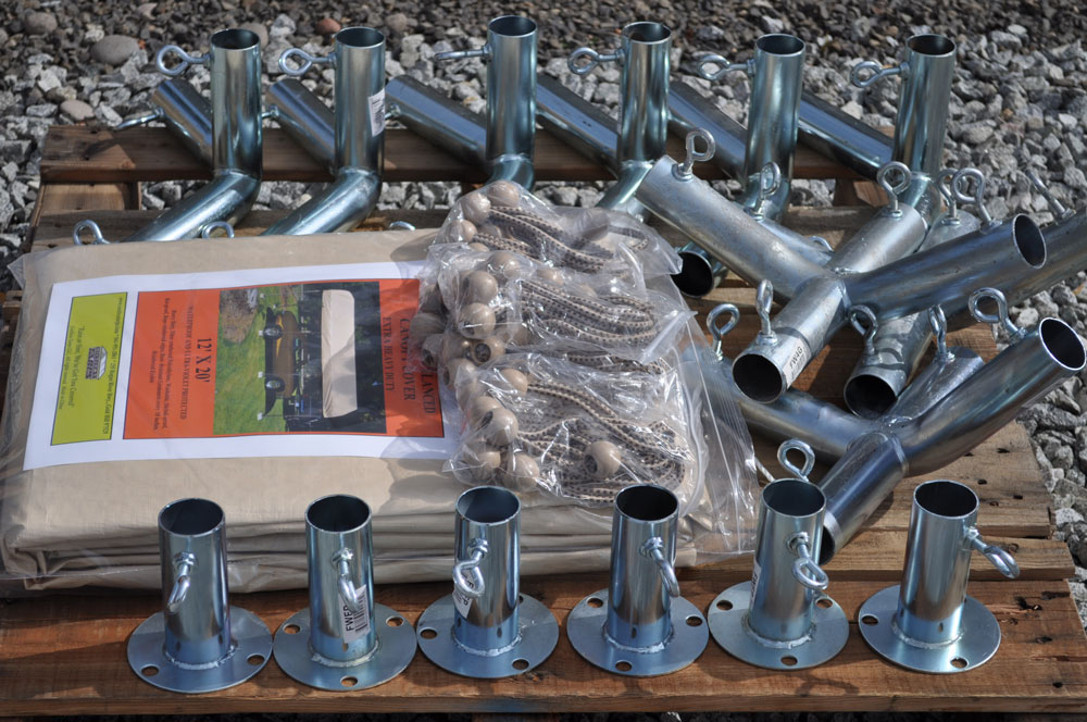 10x20 carport kit with footpads