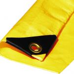 Yellow trunk tarp