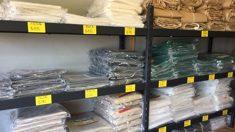 We Stock All Sizes Of Tarps