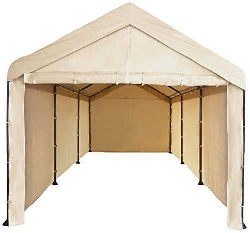 Costco Replacement Carport Cover  sc 1 st  Costless Tarps & Costco 10x20 carport frame cover - fits the dark brown frame with ...