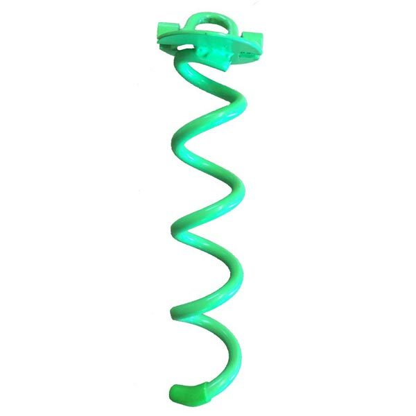"10"" lime powder coated steel carport or pop-up anchor"