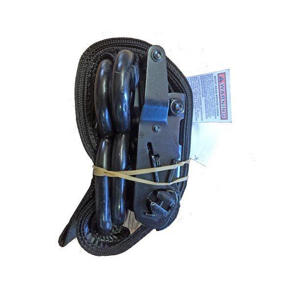 Caport/pop-up canopy ratchet loop strap